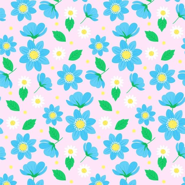 Tema colorido del estampado de flores vector gratuito