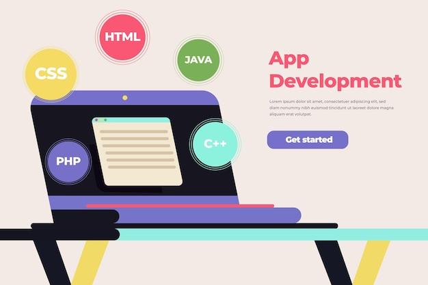 Tema del concepto de desarrollo de aplicaciones vector gratuito