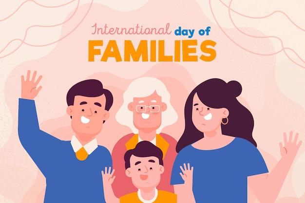 Tema del día internacional de las familias Vector Premium