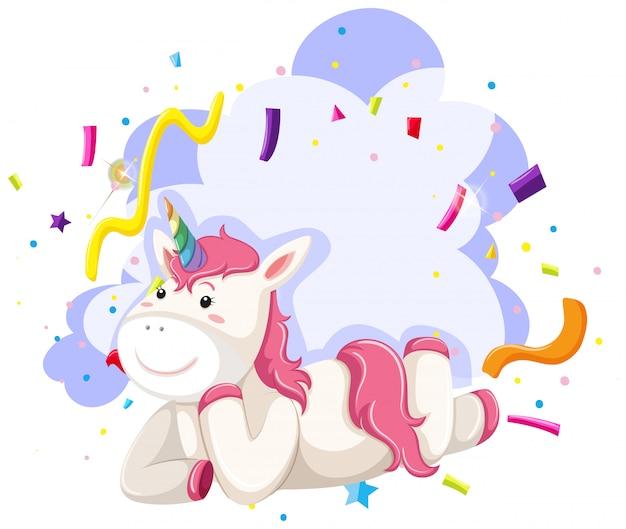 Un tema de fiesta de personaje unicornio vector gratuito