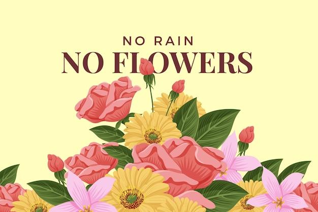 Tema de flores vintage 2d para el fondo vector gratuito