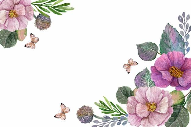 Tema de fondo acuarela primavera vector gratuito