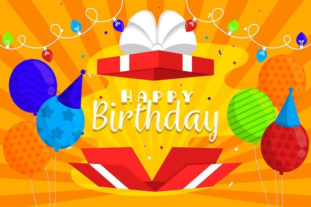 Tema de fondo colorido cumpleaños vector gratuito