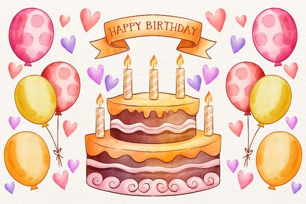 Tema de fondo de cumpleaños vector gratuito