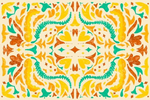 Tema de fondo mexicano colorido diseño plano vector gratuito