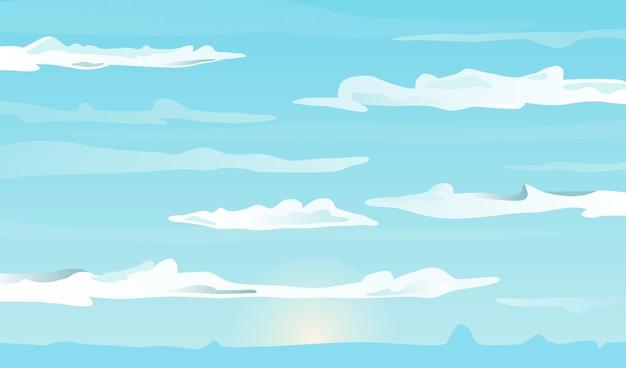 Tema de fondo de pantalla de cielo vector gratuito