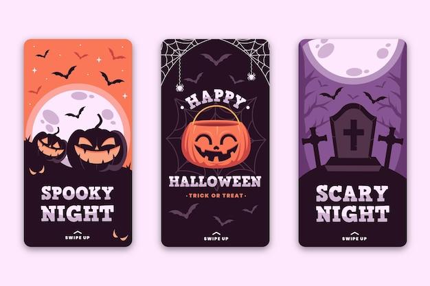 Tema de historias de instagram del festival de halloween vector gratuito