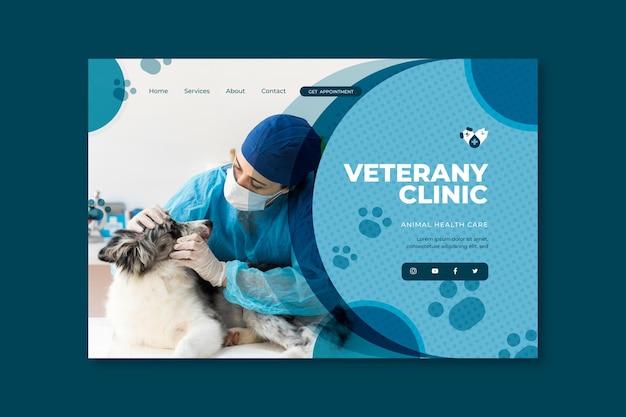 Tema de la página de aterrizaje veterinaria vector gratuito