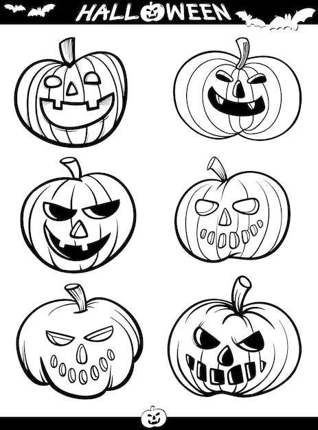 Temas de dibujos animados de halloween para colorear libro ...