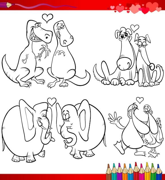 Temas de dibujos animados de san valentín para colorear | Descargar ...