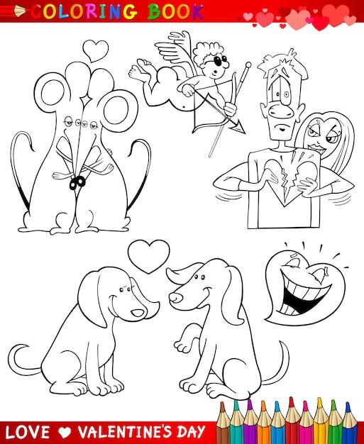 Temas de dibujos animados de san valentín para colorear   Descargar ...