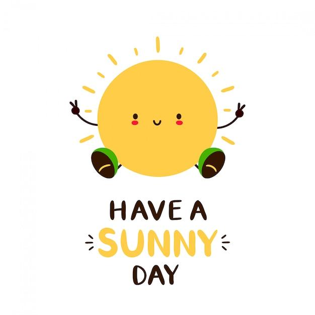 Tener una tarjeta de día soleado Vector Premium