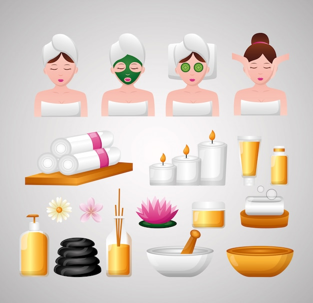Terapia de tratamiento de spa vector gratuito