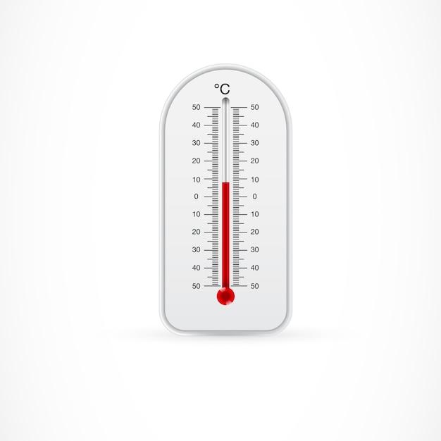 Termómetro al aire libre que muestra 8 centígrados vector gratuito