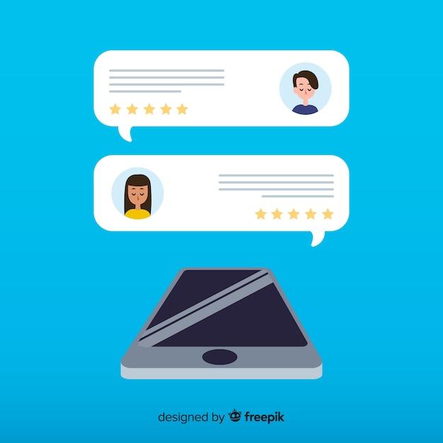 Testimonial en forma de burbuja de texto Vector Premium