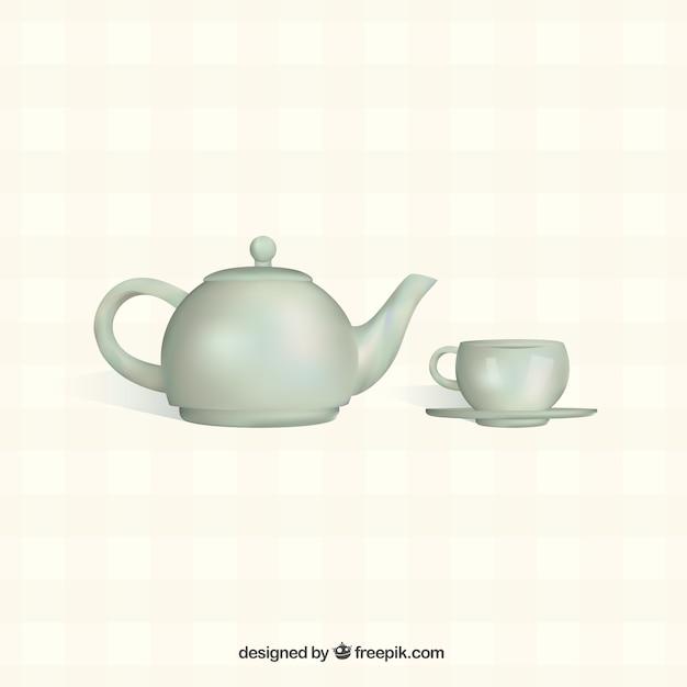 Tetera con taza | Descargar Vectores gratis