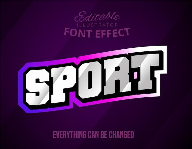 Texto deportivo, efecto de fuente editable Vector Premium
