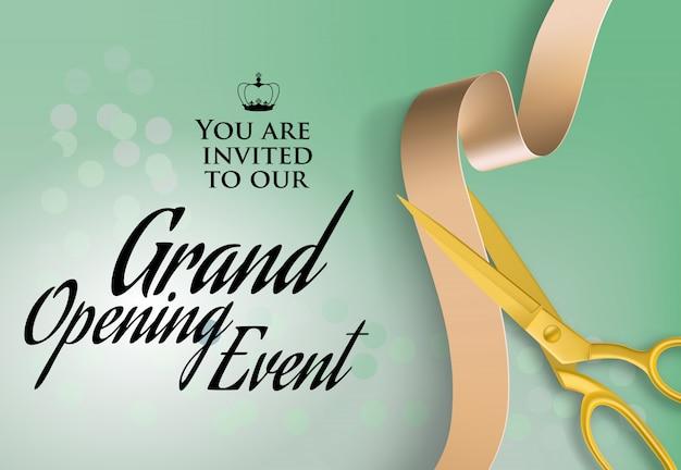 Texto De Evento De Gran Inauguración Por Invitación Vector