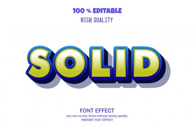 Texto sólido, efecto de fuente editable Vector Premium