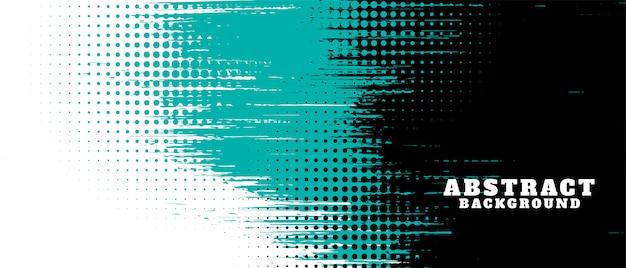 Textura abstracta grunge y diseño de banner de semitono vector gratuito