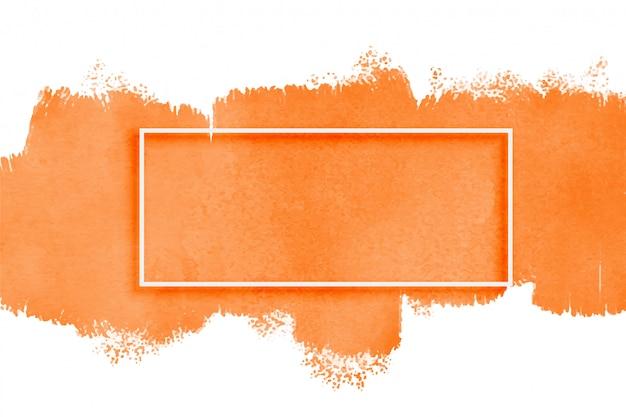 Textura de acuarela naranja con copyspace vector gratuito