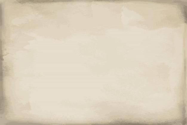 Textura de acuarela de papel beige grunge, fondo, superficie Vector Premium