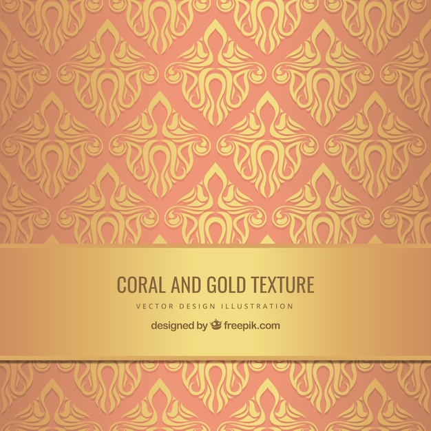 Gold and coral background