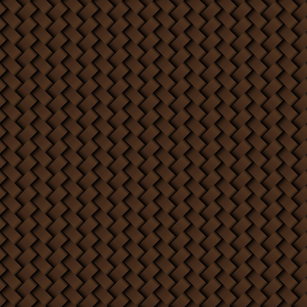 Textura de cuero marrón tejido de patrones sin fisuras Vector Premium