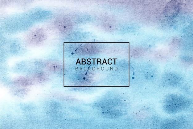 Textura de fondo azul y púrpura abstracto acuarela pintada a mano Vector Premium
