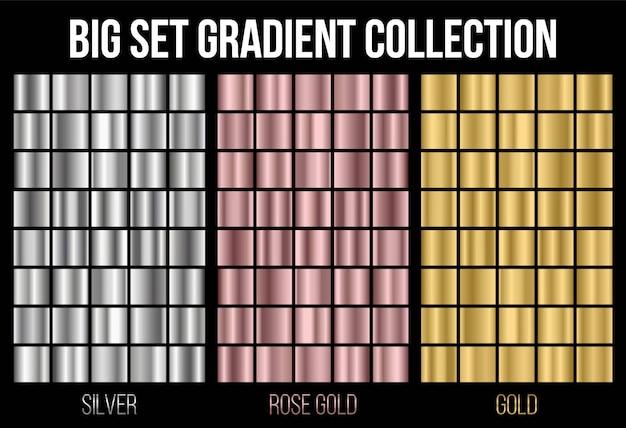 Textura del fondo de la colección de la pendiente. Vector Premium