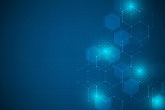 Textura de fondo geométrico con hexágono Vector Premium
