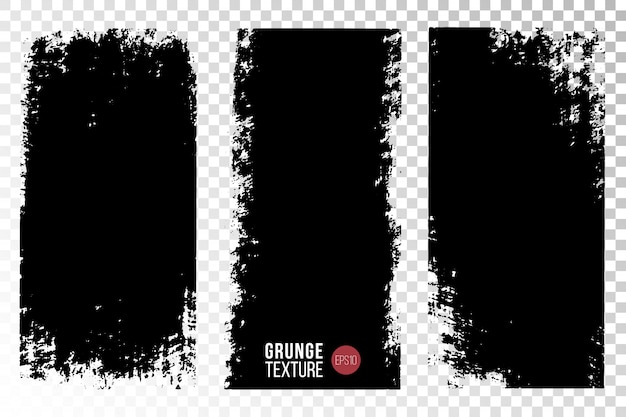 Textura grunge establecer fondos Vector Premium