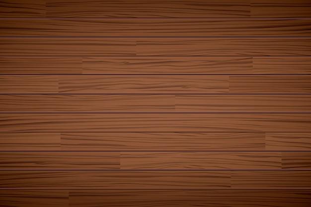 Textura de madera fondo marrón oscuro Vector Premium