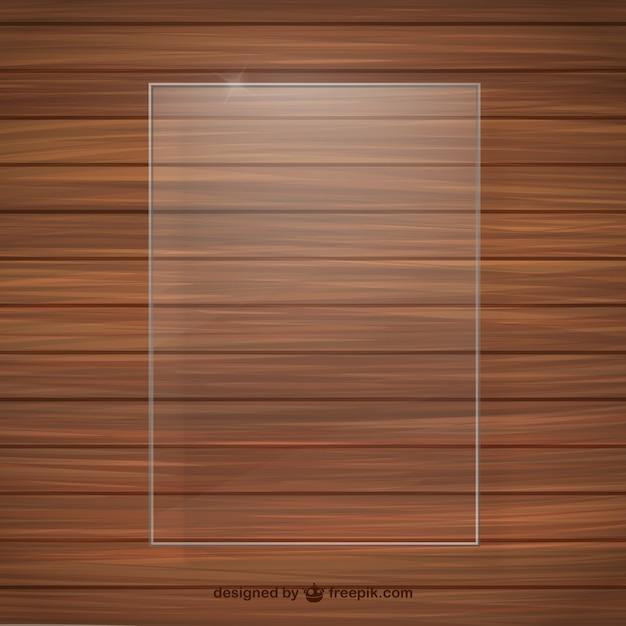 Textura de madera con marco de cristal | Descargar Vectores gratis