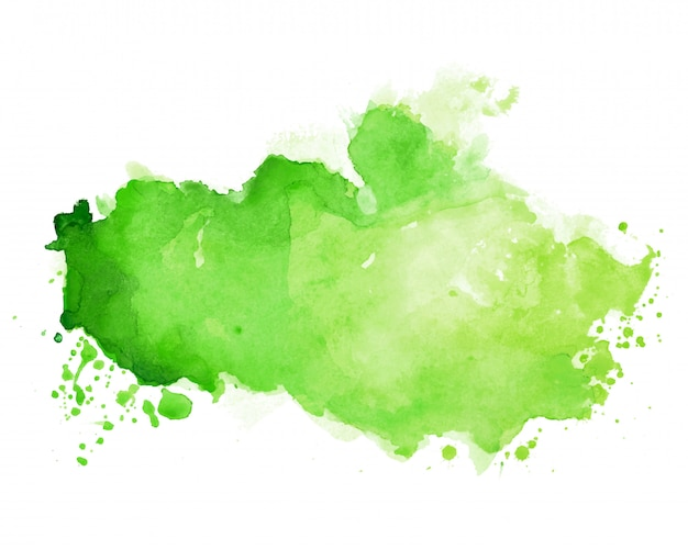 Textura de manchas de acuarela en tono de color verde vector gratuito