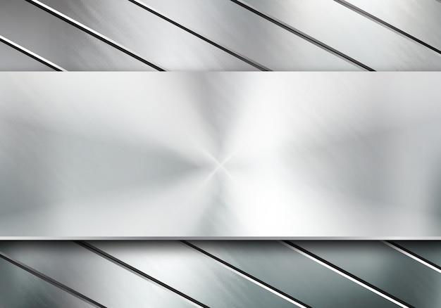 Textura de metal de fondo Vector Premium