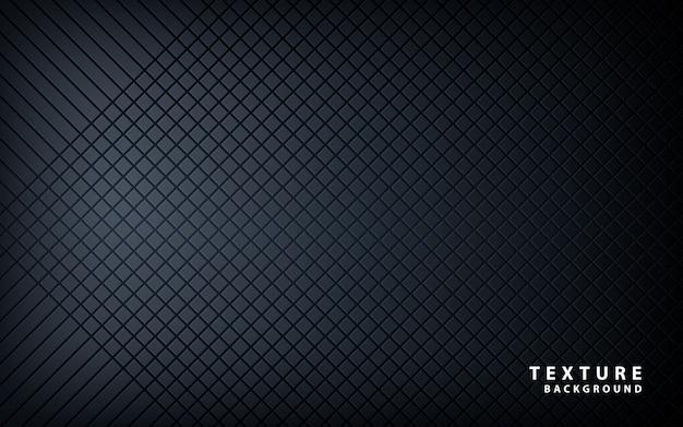 Textura de patrón metálico negro Vector Premium