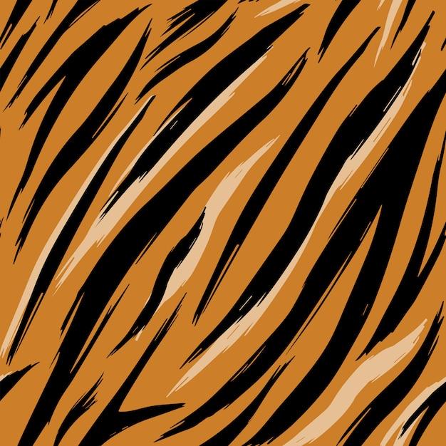Textura perfecta de pieles de tigre. modelo. Vector Premium