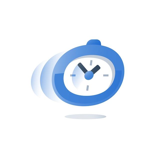 Tiempo corriendo, cronómetro en movimiento ilustración Vector Premium