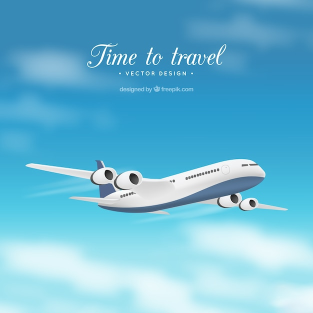 Tiempo de viajar vector gratuito