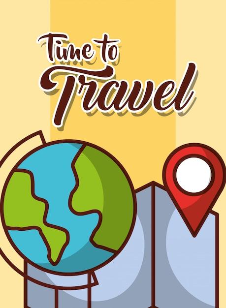 Tiempo para viajar Vector Premium