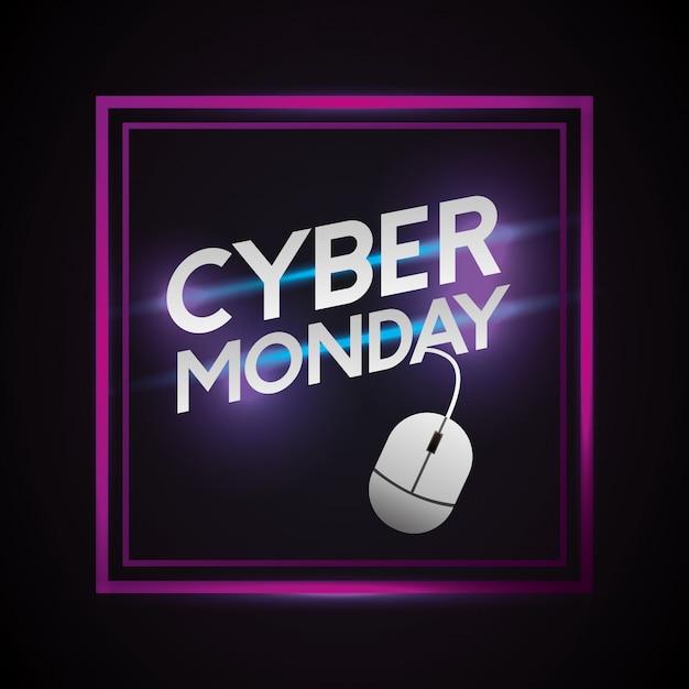 Tienda cyber lunes Vector Premium