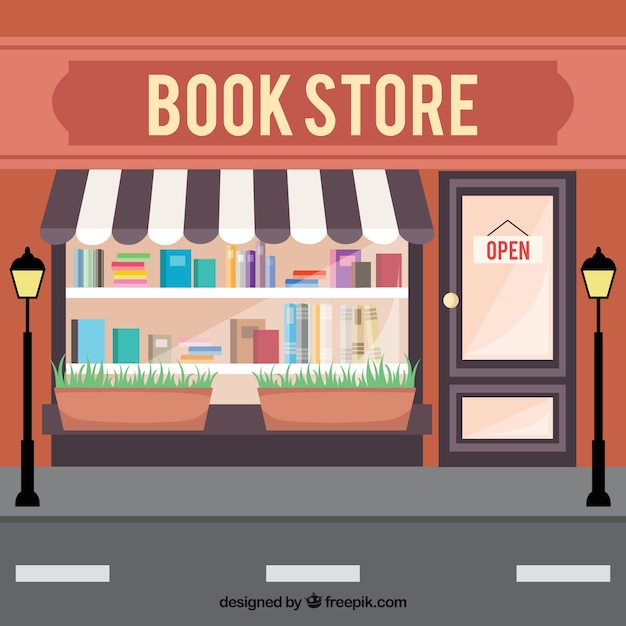 Tienda de libros descargar vectores gratis - Almacen de libreria ...