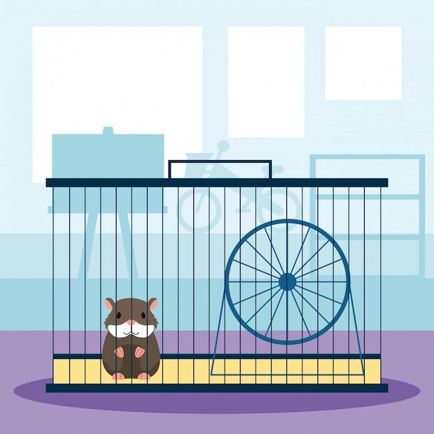 Tienda de mascotas relacionada vector gratuito