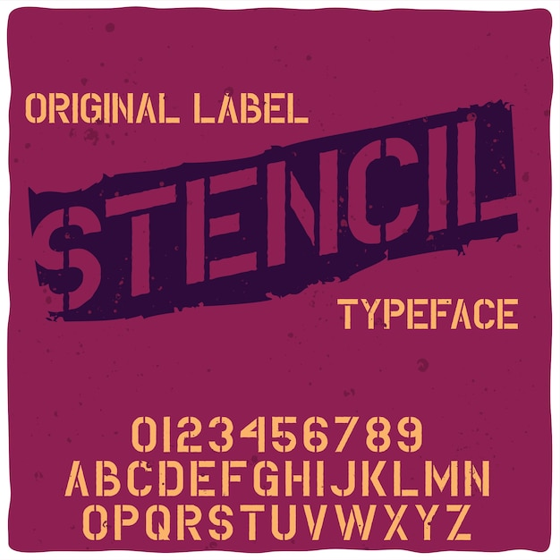 Tipo de letra original de la etiqueta denominada