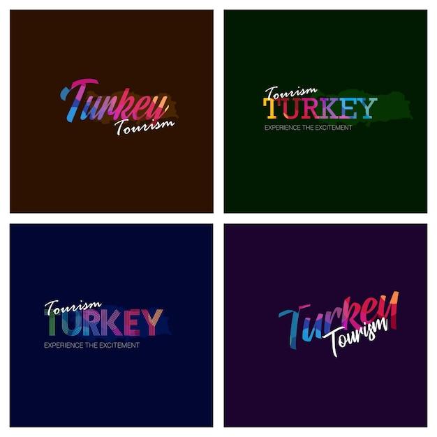 Tipografía de turismo turquía logo background set | Descargar ...