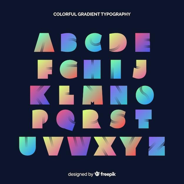 Tipografía degradada colorida vector gratuito