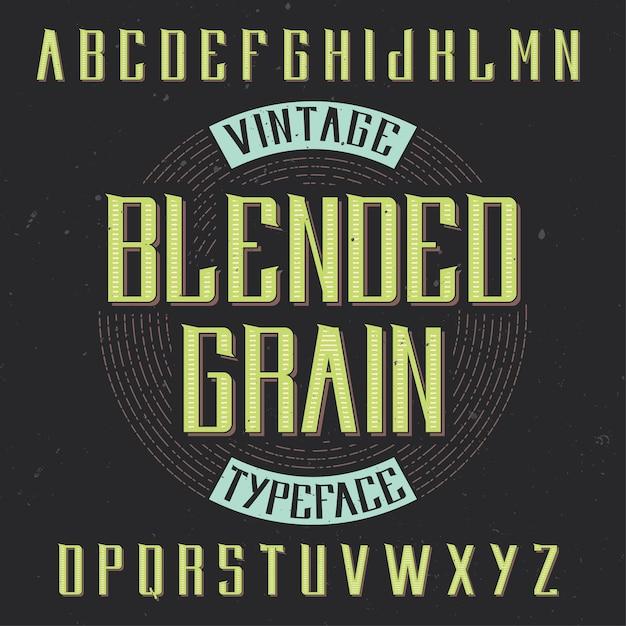 Tipografía de etiqueta vintage vector gratuito