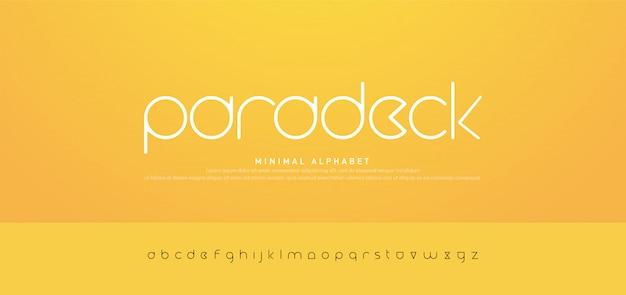 Tipografía minimalista moderno alfabeto urbano fuentes Vector Premium