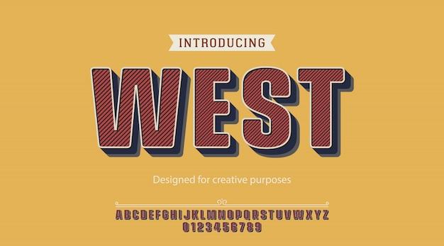 Tipografía del oeste. para fines creativos Vector Premium